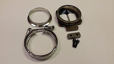"Stainless T4 Divided to 3/"" V-band Inlet Turbo Flange Transition Vband 1//2/"" CNC"