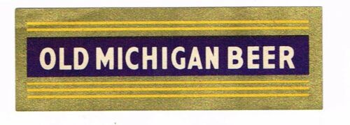 1930s MICHIGAN Grand Rapids Old Michigan Beer Neck Label Tavern Trove