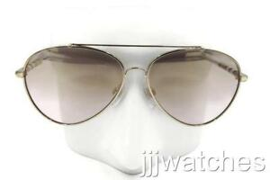 3a4aaef57b40 Image is loading New-Burberry-Check-Detail-Pilot-Gold-Mirror-Sunglasses-