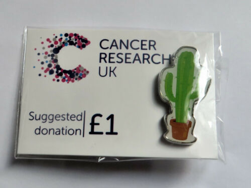 CACTUS New March 2019 Tropical Cancer Research UK Charity Pin Badge
