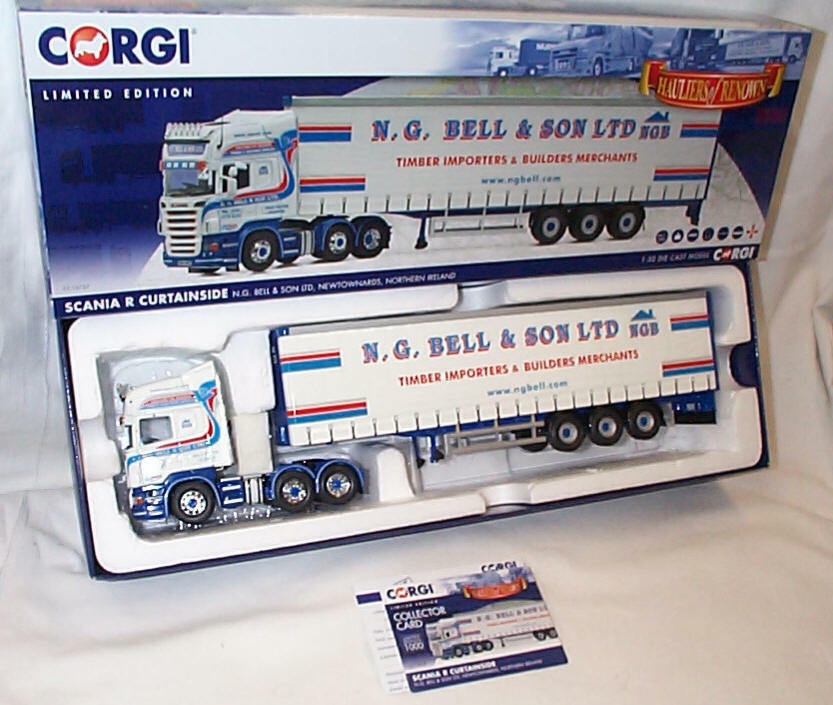 Scania R Curtainside N.G. BELL & SONS LTD CC13757 1-50 New in Box Ltd Edition