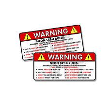 Chevy ZR1 Stingray 2x Chevrolet Corvette Safety Warning Rules Sticker Decal