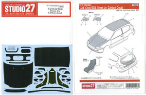 Studio27 1/24 Civic Eg6 Déguisement Carbone Sticker Pour Hasegawa Cd24023 New F