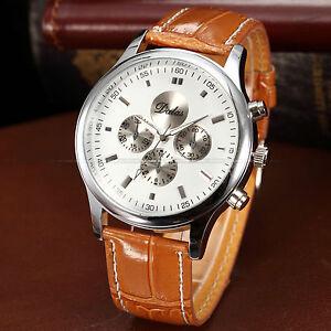 Superbe-Montre-Luxe-Quartz-Homme-Dalas-Classique-Bracelet-Cuir