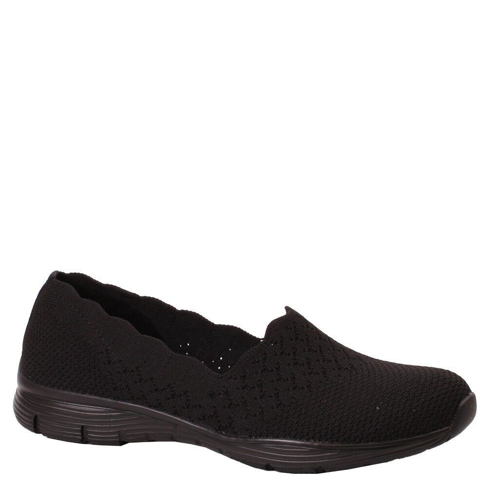 Women's Skechers SEAGER-STAT SEAGER-STAT SEAGER-STAT 49481BBK Black shoes e5eee5