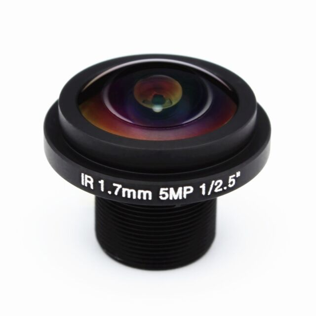 2Pcs Fish Eye View 1.7mm cctv Lens Wide Angle m12 IR Board Fixed for HD Camera