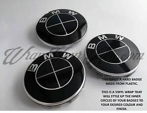 Noir-Brillant-Badge-Embleme-Superpose-pour-BMW-Autocollant-Coupe-Coffre-Jantes