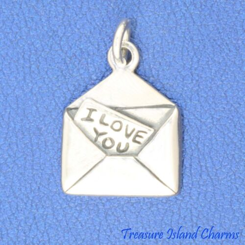 Lover/'s Lettre I Love You 925 Solid Sterling Silver Charm pendentif made in USA