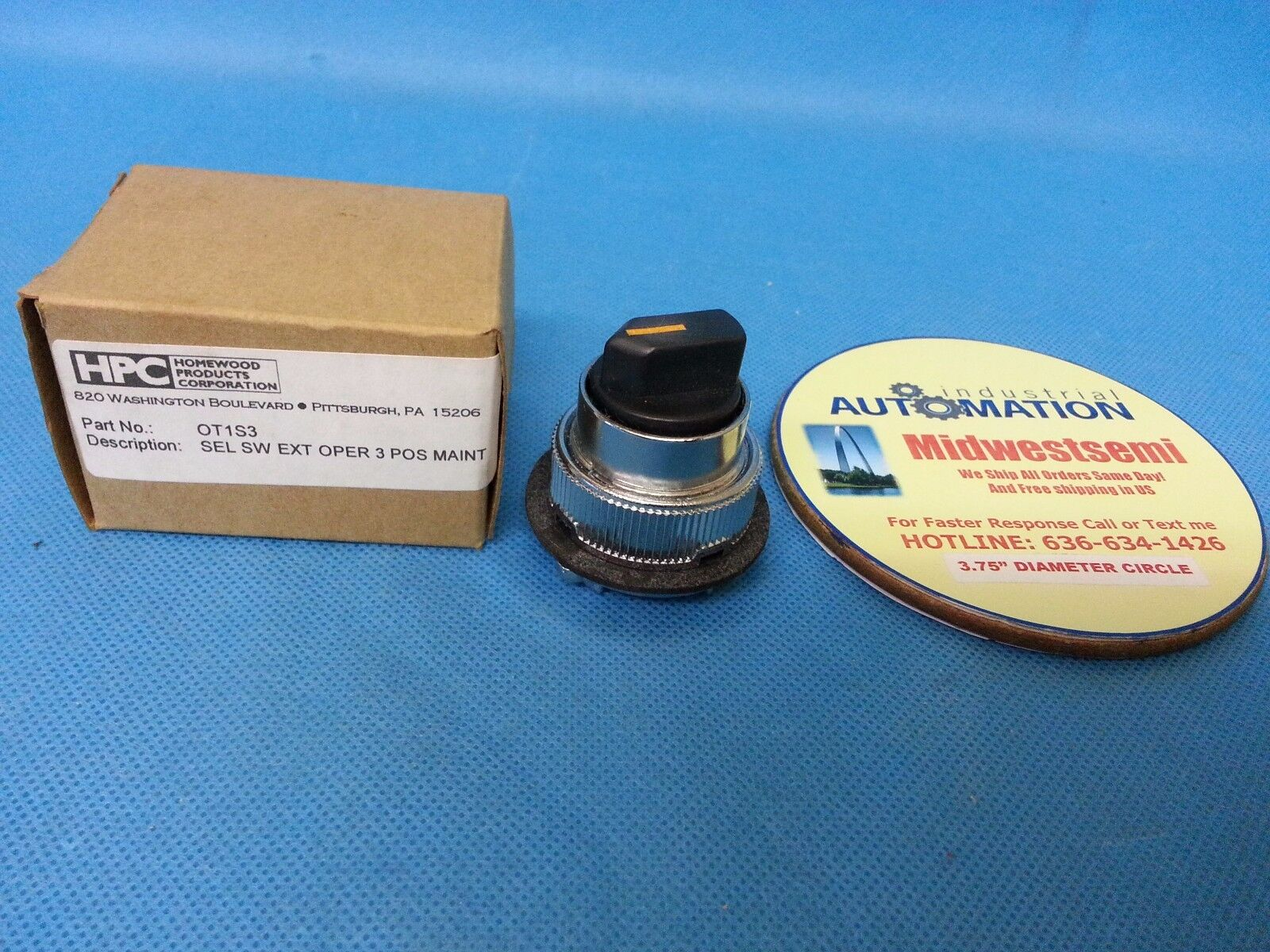 FREESHIPSAMEDAY HOMEWOOD OT1S3 SELECTOR 3 POSITION SWITCH 0T1S3 NEW FACTORY BOX