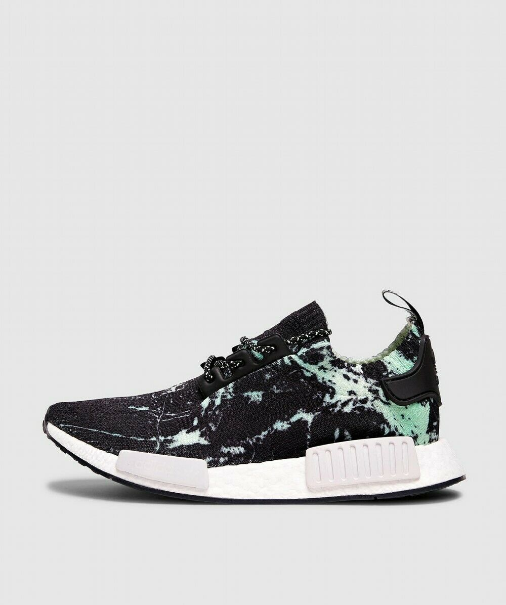 Mens Adidas NMD_R1 PK Marble Flash Grün Trainers (LF2)