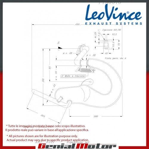 PIAGGIO APE 50  LEOVINCE SISTEMA DE ESCAPE COMPLETO LEOVINCE ACERO 4221