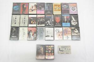 27 Cassette Tape Lot 80s 90s Pop Rock Madonna Pat Benatar Billy Idol Bon Jovi AK