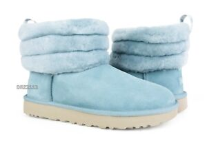 8ca75a1011d Details about UGG Classic Mini Fluff Quilted Succulent Fur Boots Womens  Size 10 *NIB*