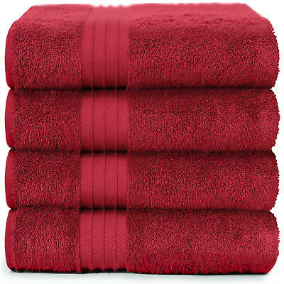 SALBAKOS Luxury Bath Towels 4-Piece Large Aqua Bathroom Hotel Towel Set Softe