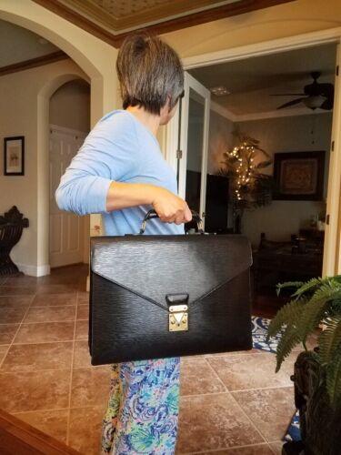 Authentic Louis Vuitton Black Epi Briefcase GM