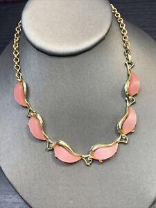 Vintage-1950-s-Thermoset-Plastic-Adjustable-Necklace-Hook-Clasp-Pale-Pink-16