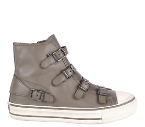 Zip New Leather 41 Size Women Perkish Sale Virgin Ash Buckle Trainers On xqwaIFW0