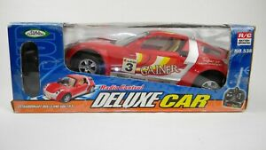 Master-Hand-Radio-Control-Deluxe-Car-3-Red-Battery-Operated-Car-and-Remote-New
