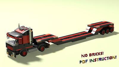 Lego Trailer Truck Building Instruction Moc Pdf Lxf Html Ebay