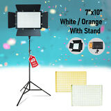 LED video studio light panel Light Dimmable Bi-Color with LED Stand