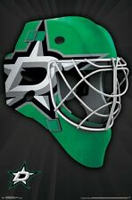 DALLAS STARS - MASK LOGO POSTER - 22x34 NHL HOCKEY 15290
