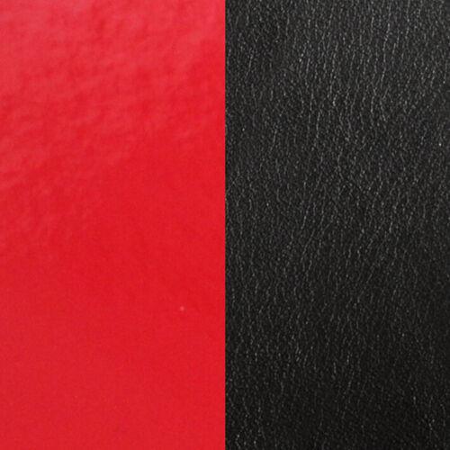 Les Georgettes Ledereinsatz leuchtendes rot//schwarz