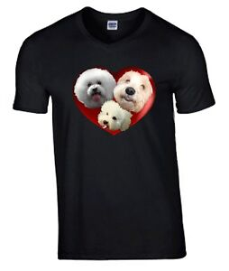 Bichon-Frise-Dogs-HeartTshirt-T-shirt-V-or-Crew-Neck-Birthday-Gift