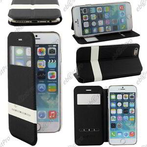 Accessoire-Housse-Coque-Etui-S-View-Flip-Cover-Noir-Apple-iPhone-6S-Plus-5-5-034