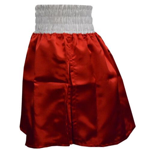 Cleto Reyes Women/'s Satin Boxing Skirt Trunks Red//White