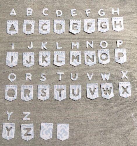 Stanzschablone// Cutting dies Alphabet Buchstaben ABC Wimpel für Big Shot