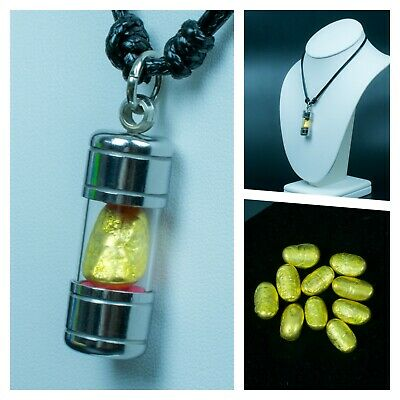1pcs takrut LEKLAI THONGPLALAI gold capsule protect thai buddha amulet Lp yai10