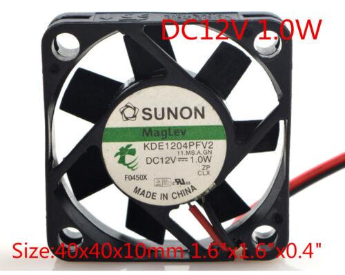 """SUNON Cooling Fan KDE1204PFV2 12v 1.0w 4010 4CM 40x40x10mm 1.6/""""x1.6/""""x0.4/"""""""