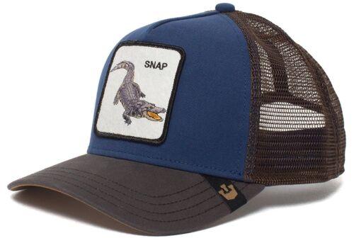 Goorin Animal Farm Trucker Baseball Hat Cap Blue Crocodile Alligator Snap At Ya