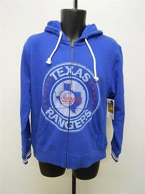 Fanartikel Sport Humorvoll Neu Texas Rangers Erwachsenengröße S-m-l Blau Kapuze Jacke Von Mitchell & Ness