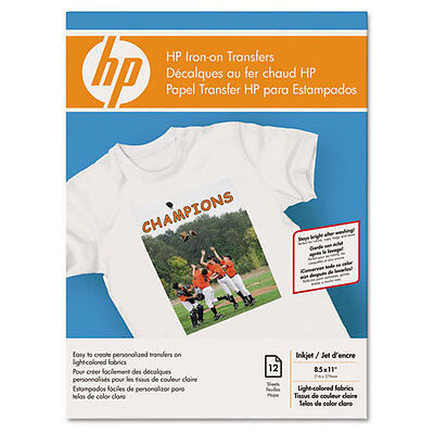 8-1//2 x 11 HP C6049A Iron-On Transfers White Pack of 12