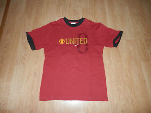 T-shirt-Maillot-Manchester-United-Nike-Rouge-Floque-Rooney-N-8-Taille-12-ans