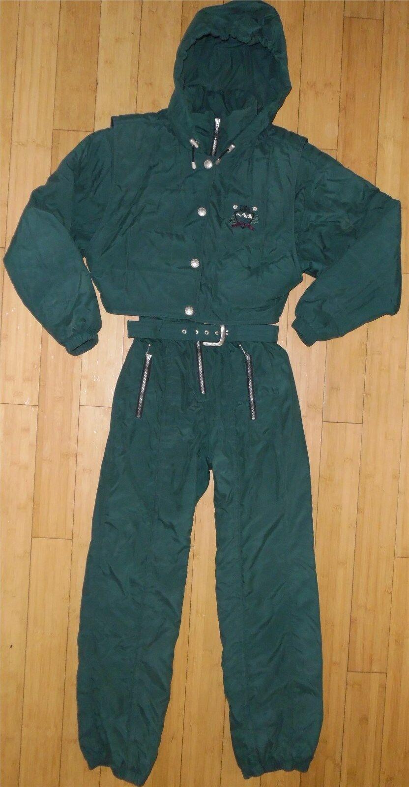 Womens Vintage NILS Hooded Vest Snowsuit Ski Snow Snowboard Coat Pants 8 Medium