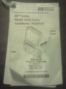 hp philips agilent users manual for viridia 24 26 patient monitor rh ebay com HP Viridia Wave Viewer Philips Viridia 24 26