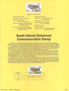 8912-South-Dakota-Statehood-Stamp-2416-USPS-Souvenir-Page