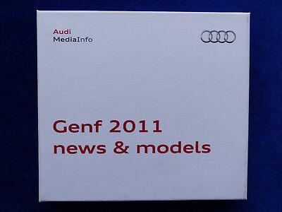 PräZise Audi A8 Rs3 Q5 Hybrid - Media-info Cd-rom Pressemappe Press-kit Genf 03.2011 Lassen Sie Unsere Waren In Die Welt Gehen