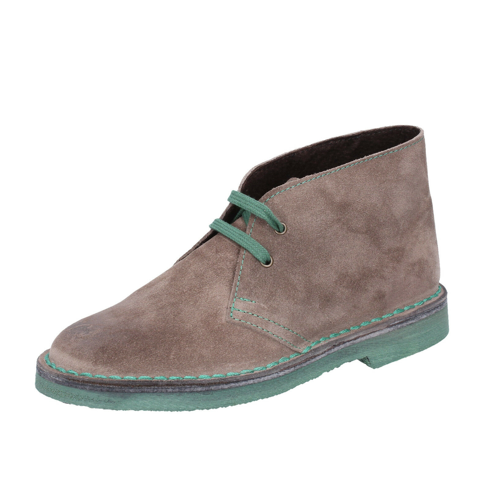 Womens shoes KEPS BY CORAF 3 (EU 36) desert boots beige green suede BX676-36