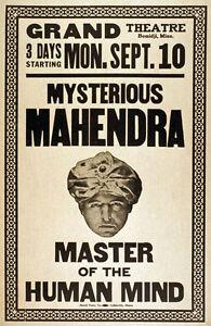 M39-Vintage-1923-Mind-Reader-Magic-Poster-A1-A2-A3