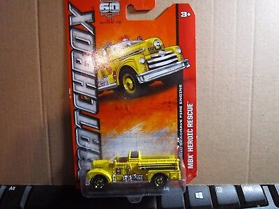 MATCHBOX CLASSIC SEAGRAVE FIRE ENGINE IN YELLOW NICE!!!