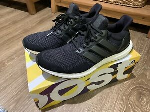 Details about Adidas Ultra Boost M 1.0 Core Black Gray White Men's Size 12 S77417 Wool Rare