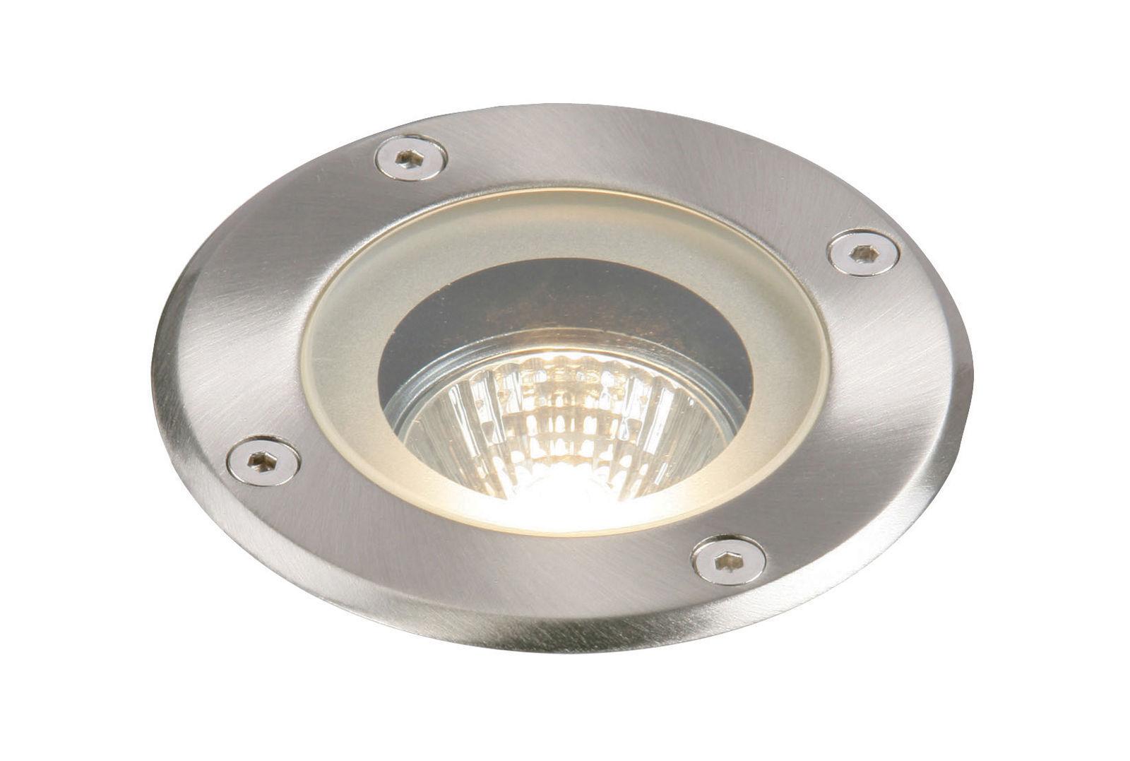 Pilar IP65 50W Empotrado Acero GH98042V Regulable Halógeno al aire libre luz indirecta Saxby