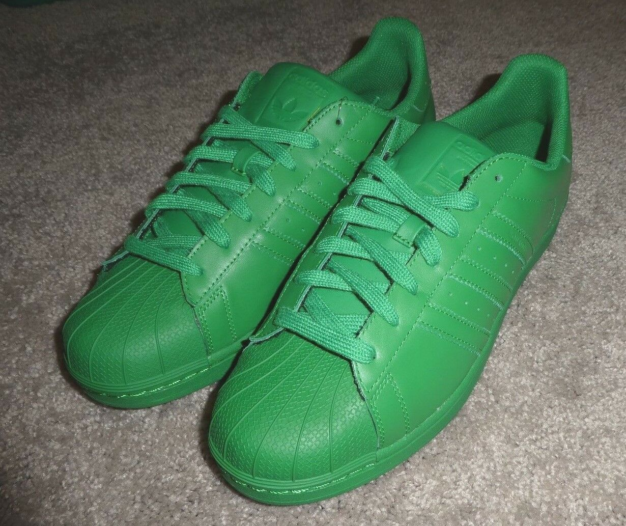 Adidas Superstar Shelltoe Supercolor shoes mens new S83389 green