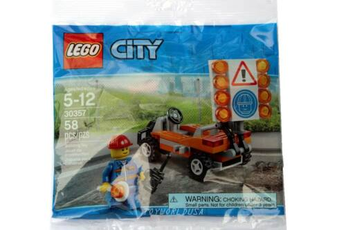 Lego CITY #30357 Road//Construction Worker Building Toy Set Polybag