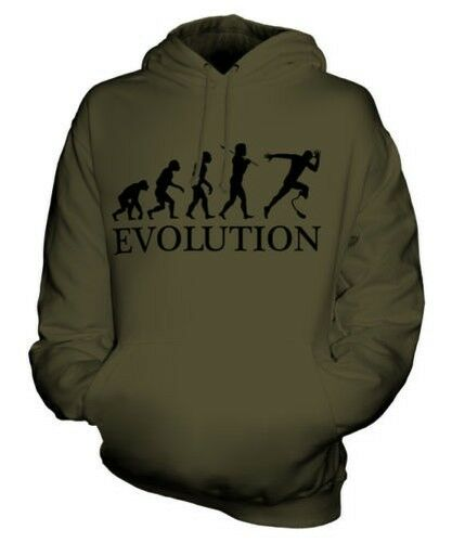DISABILITY SPORT RUNNER (MALE) EVOLUTION OF MAN UNISEX HOODIE  Herren Damenschuhe GIFT