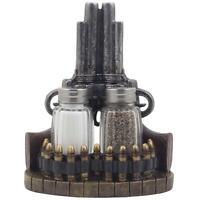 Salt Pepper Shaker Pistol Gun Western 6 Shooter Decor Kitchen Rustic Cowboy