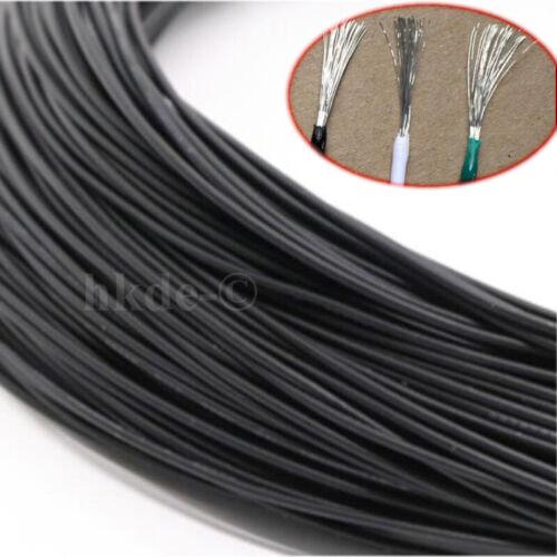 Schwarz Elektrokabel Draht Leitungen Verzinntes Kupfer UL1015 8//10//12//14~24AWG